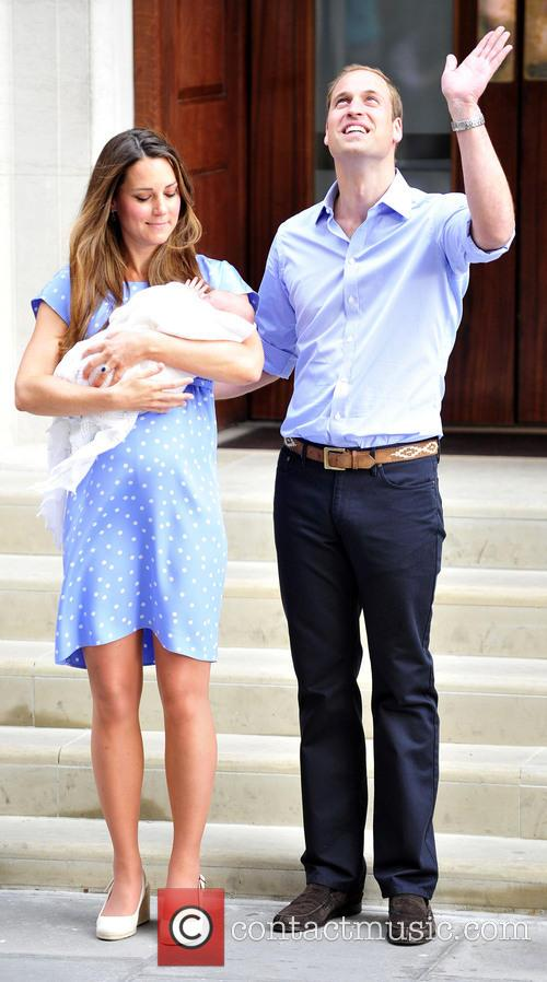 Prince William, Duke of Cambridge, Catherine, Duchess of Cambridge and Baby Cambridge 16