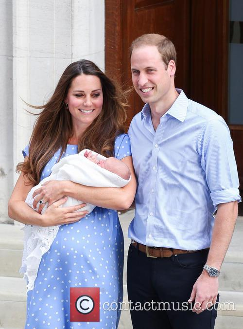 Prince William, Duke of Cambridge, Catherine, Duchess of Cambridge and Baby Cambridge 25