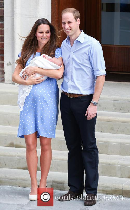 Prince William, Duke of Cambridge, Catherine, Duchess of Cambridge and Baby Cambridge 30