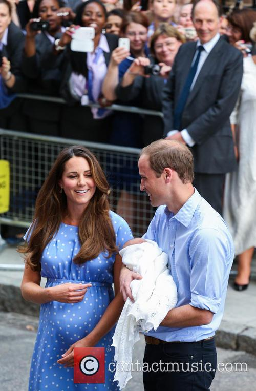 Prince William, Duke of Cambridge, Catherine, Duchess of Cambridge and Baby Cambridge 50