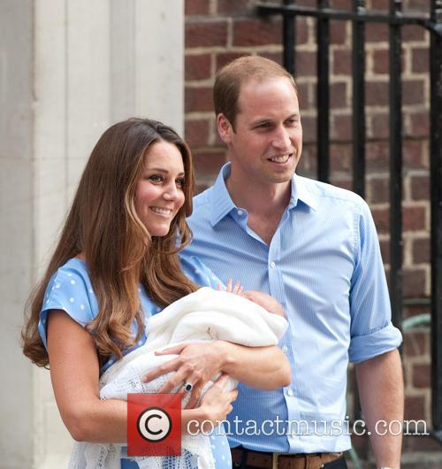 Prince William, Duke of Cambridge, Catherine, Duchess of Cambridge and Baby Cambridge 73