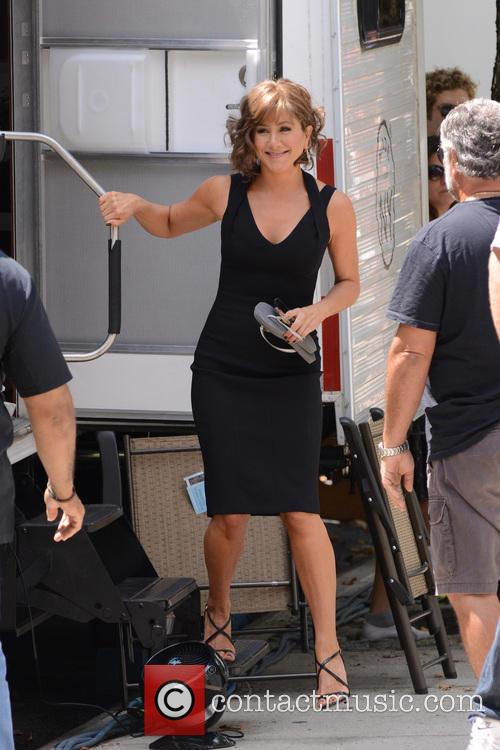 """Jennifer Aniston heading to the set of """"Squirrels to the Nuts"""" filming on location in Manhattan"""