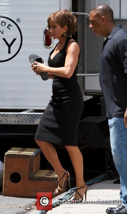 Jennifer Aniston seen on the set of 'Squirrels to the Nuts'