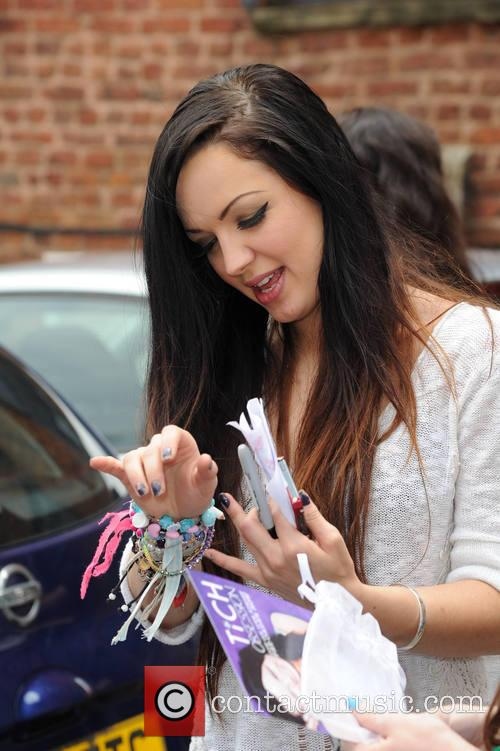 Tich arrives at a Stockport Radio Station