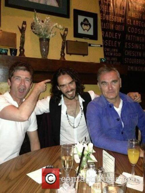 noel gallagher russell brand morrissey noel gallagher russell brand 3777666