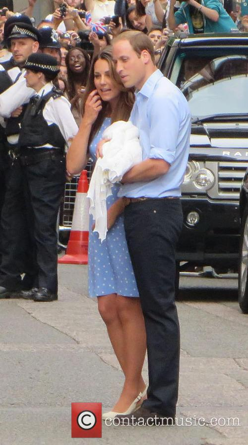 ROYAL COUPLE LEAVES LONDON HOSPITAL WITH BABY SON