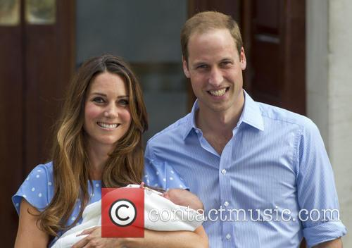 Prince William, Duke of Cambridge, Catherine, Duchess of Cambridge and Baby Cambridge 43