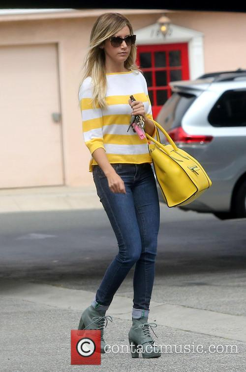 Ashley Tisdale seen out and about