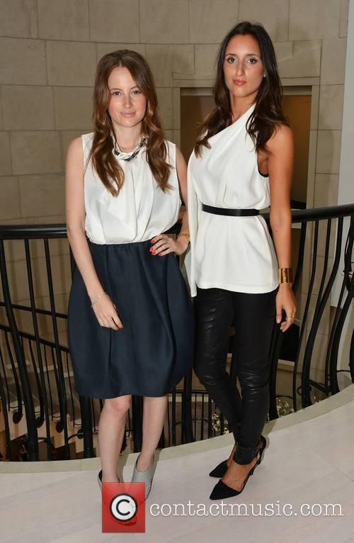 Lily Fortescue and twin sister Rosie Fortescue launch...