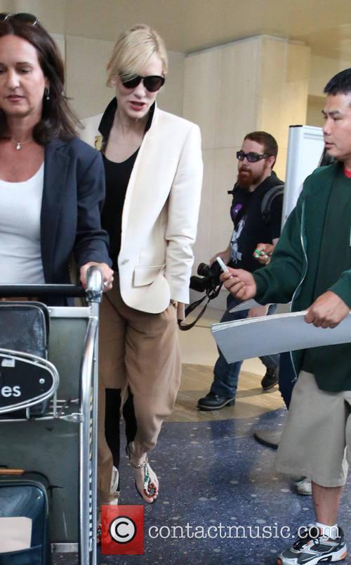 Cate Blanchett, LAX airport