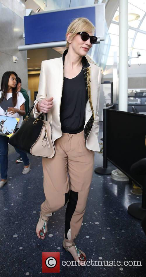 Cate Blanchett arrives at LAX aiport