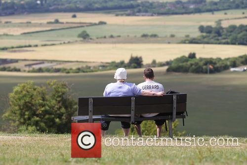 Hot Weather on Dunstable Downs