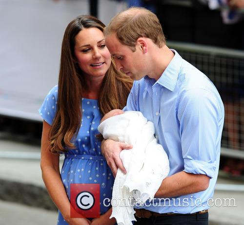 Catherine, Duchess of Cambridge, Prince William, Duke of Cambridge and baby 12