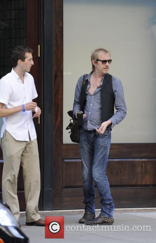 Rhys Ifans outside his Manhattan hotel
