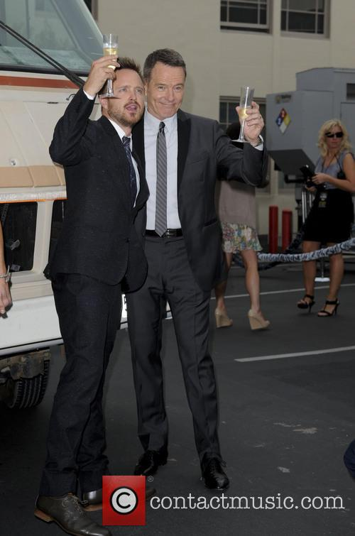 Bryan Cranston, Aaron Paul, SONY Lot