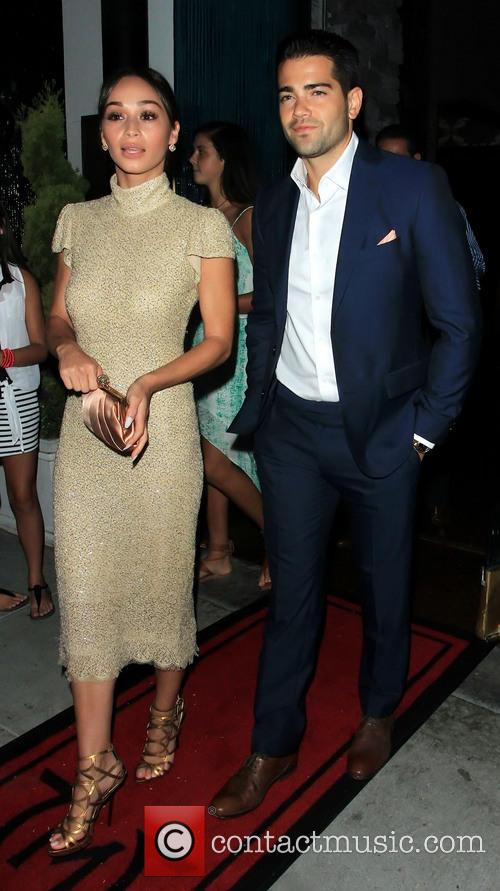 Jesse Metcalfe and Cara Santana at Maestro restaurant