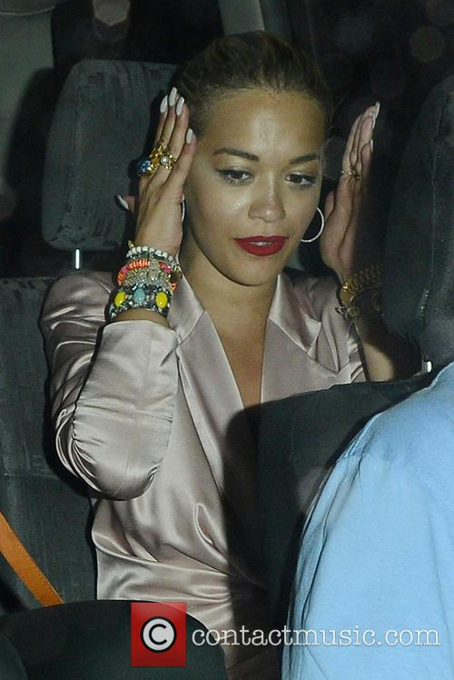 Rita Ora leaving The Box