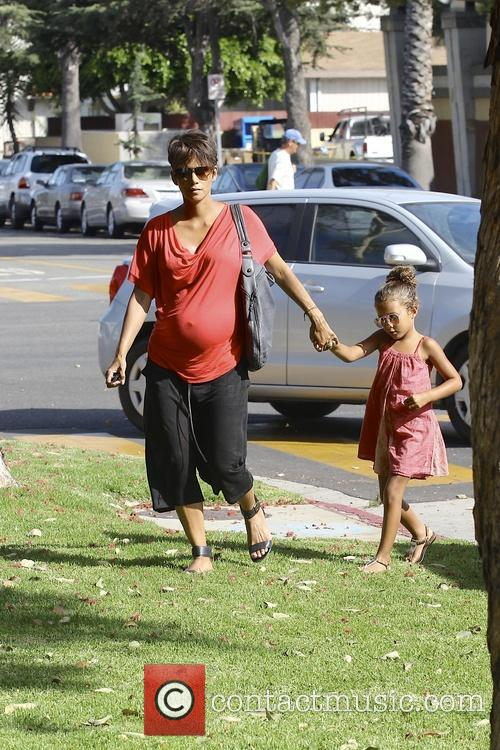 Halle Berry and Nahla 7