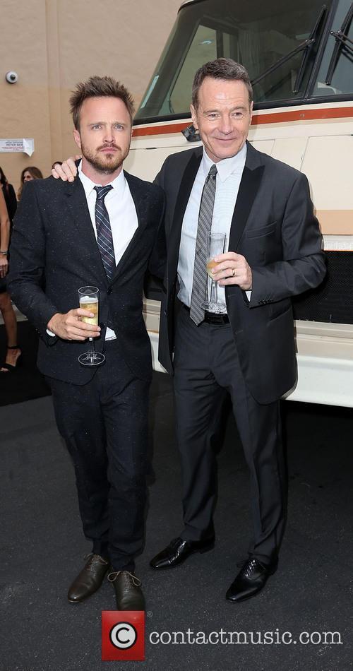 Bryan Cranston, Aaron Paul, Breaking Bad Season Premiere