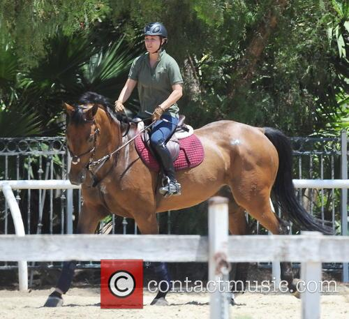 Kaley Cuoco seen horseback riding