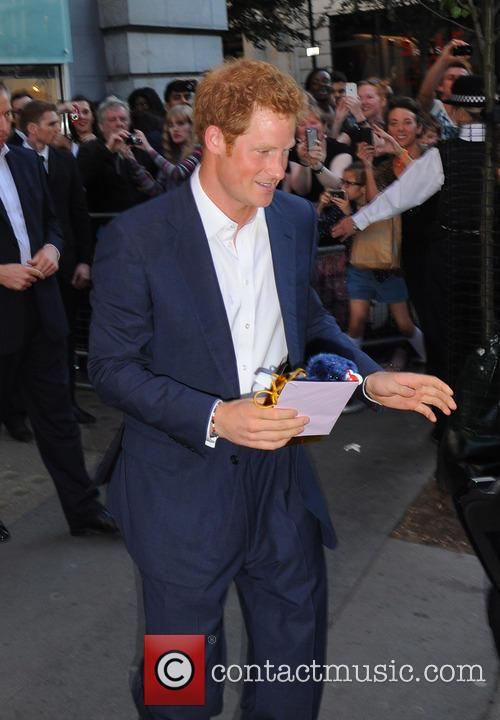Prince Harry leaves Getty Images Gallery