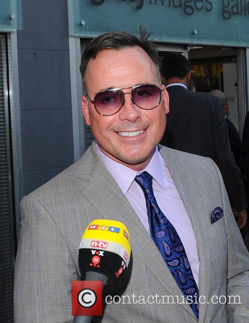 David Furnish leaves Getty Images Gallery in London