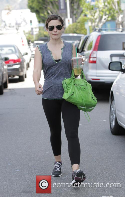 Sophia Bush leaves the gym