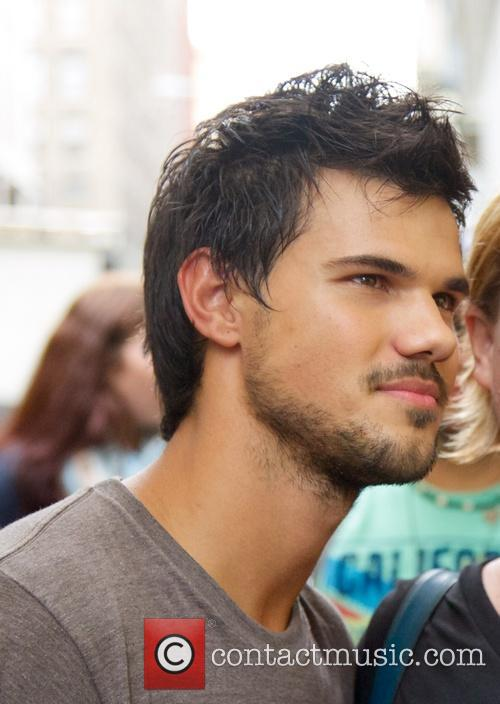 Taylor Lautner on the set of his new...