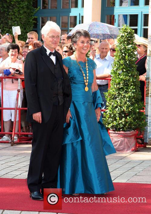 Guests attend the opening of the 2013 Bayreuth...