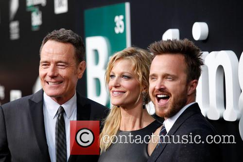 Anna Gunn, Bryan Cranston and Aaron Paul 2