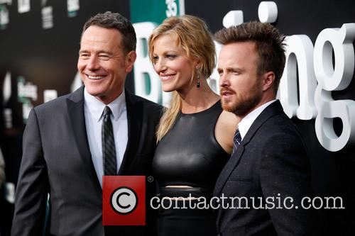 Anna Gunn, Bryan Cranston and Aaron Paul 1