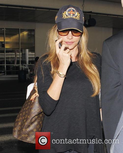 Sofia Vergara arrives at LAX (Los Angeles International)...
