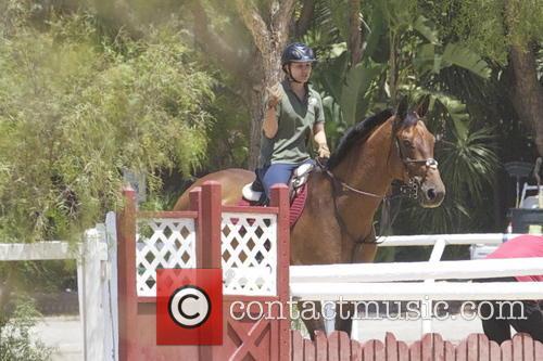 Kaley Cuoco horse riding