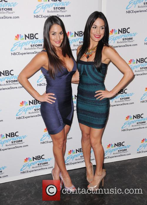Nikki and Brie Bella visit the NBC Experience...