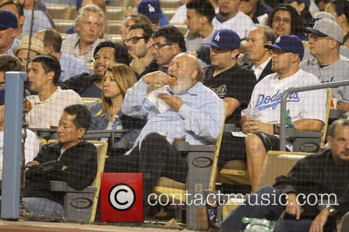 Celebrities at the La Dodgers game