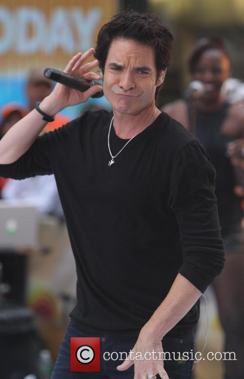 Train performs live as part of the Toyota...