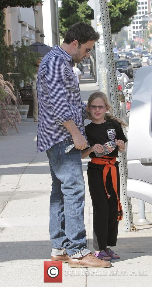 Ben Affleck and Jennifer Garner take their kids...