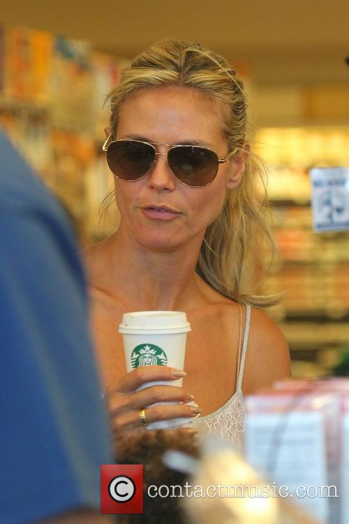 Heidi Klum and family at Whole Foods Market
