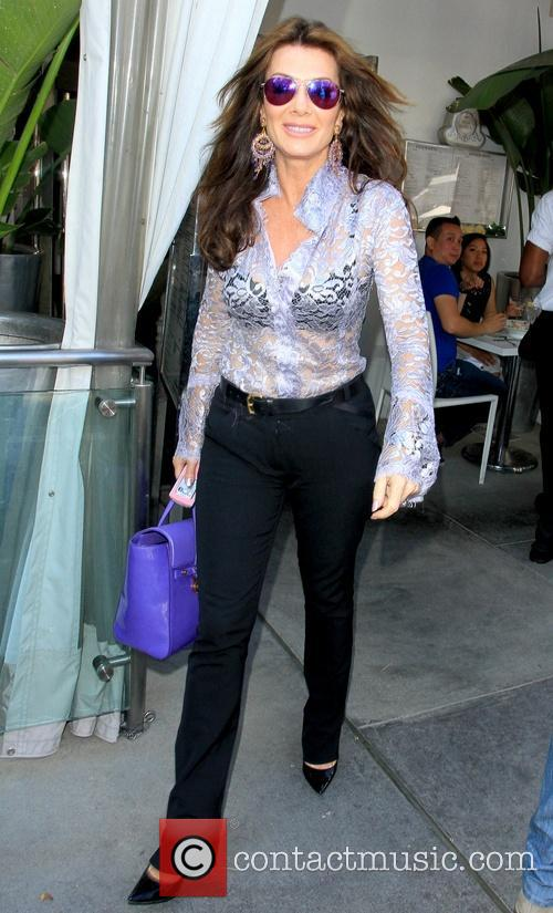 Lisa Vanderpump leaving Villa Blanca restaurant