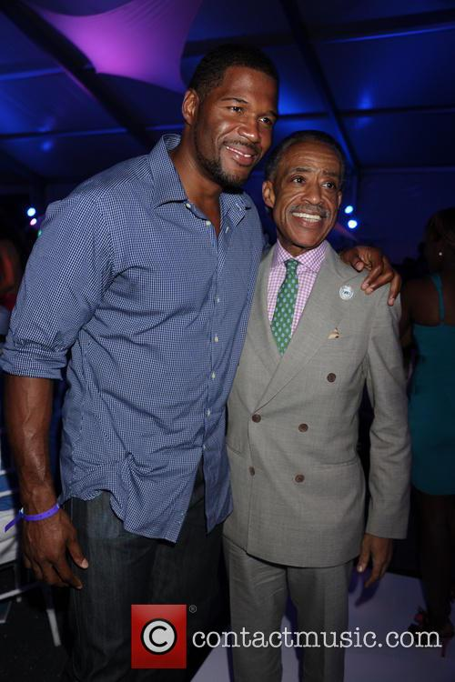 Michael Strahan and Reverend Al Sharpton 7