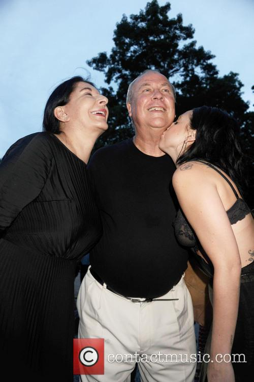 Lady Gaga, Robert Wilson and Marina Abramovic 1