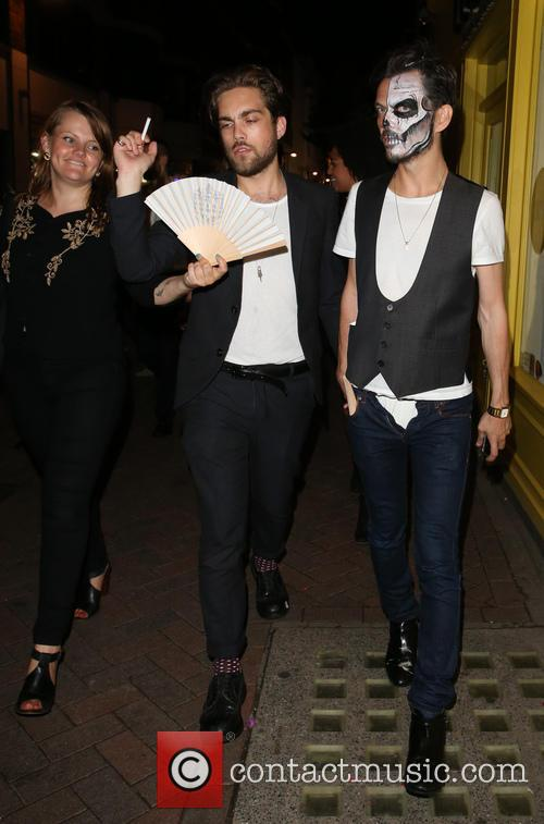 Celebrities departing Cirque le Soir nightclub