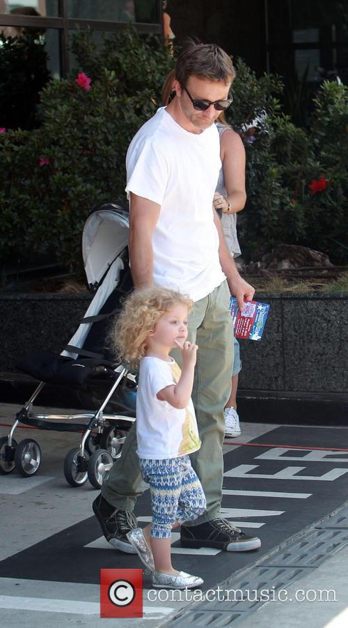 Breckin Meyer and Caitlin Willow Meyer 12