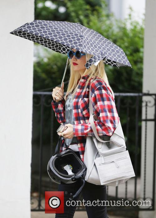 Gwen Stefani and her sons Kingston and Zuma...