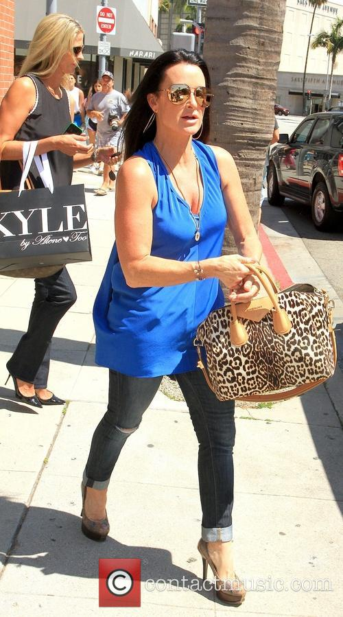 Kyle Richards at Her Clothing Store in Beverly...