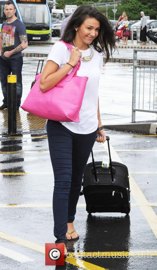 Michelle Keegan arrives at Manchester Airport