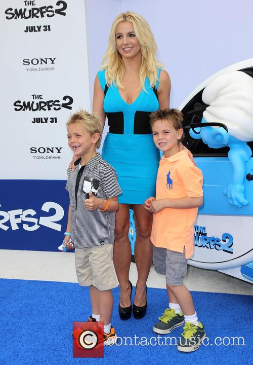 Britney Spears. The Smurfs 2 Premiere