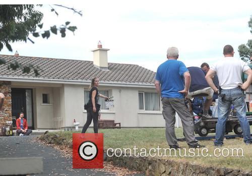 Actors on the set of 'Moone Boy'