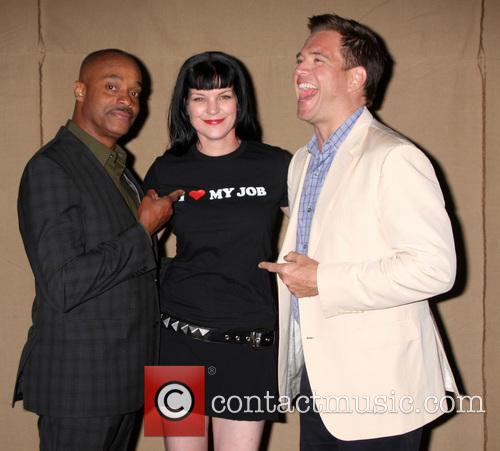 Rocky Carroll, Pauley Perrette, Michael Weatherly, private location