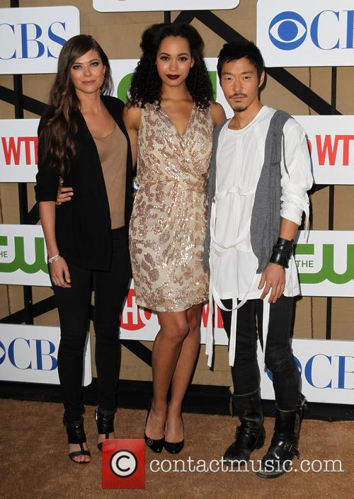 Peyton List, Madeleine Mantock and Aaron Yoo